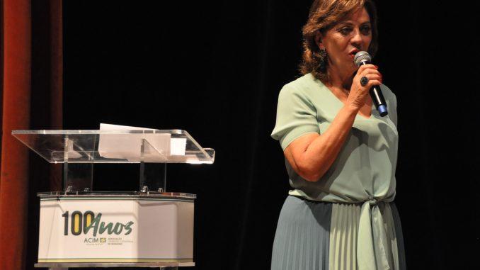 Prefeita Rosalba Ciarlini prestigia solenidade em comemoração aos 100 anos da ACIM