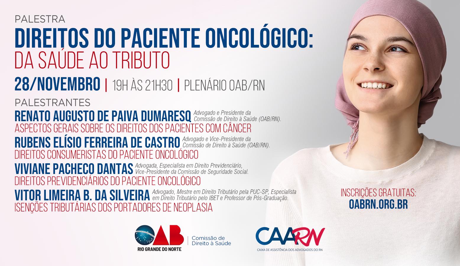 OAB RN realiza palestras abordam direitos do paciente oncológico