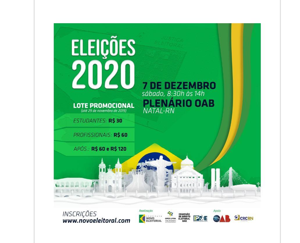 Seminário Eleições 2020 está com inscrições abertas