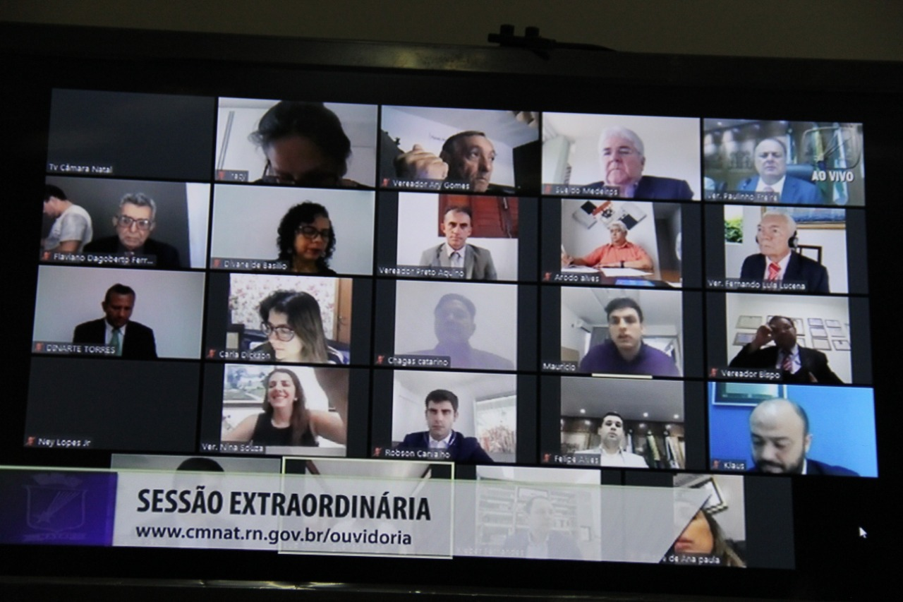 TV Câmara Natal transmite primeira sessão virtual da história do Legislativo